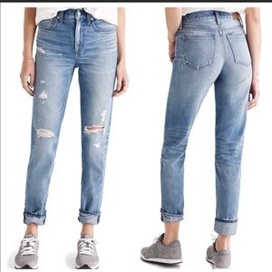 Madewell Distressed Ripped Perfect Vintage Jeans